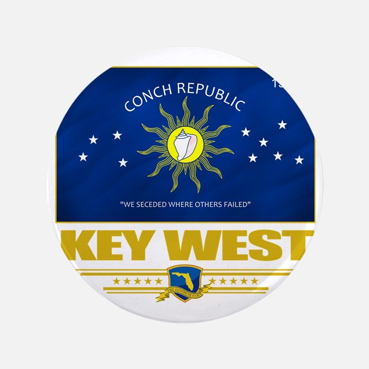 "Key West (Flag 10) 3.5"" Button"