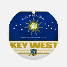Key West (Flag 10) Round Ornament