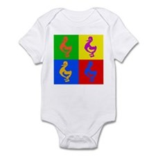 Pop Art Duck Infant Bodysuit