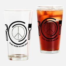 peaceplate Drinking Glass