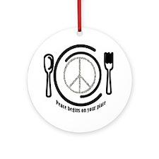 peaceplate Round Ornament