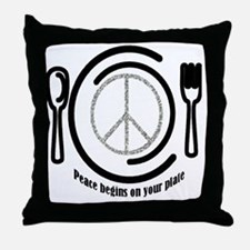 peaceplate Throw Pillow