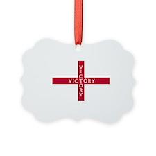 NC English Flag - St. Georges Cro Ornament