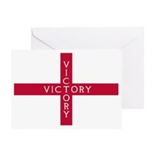 NC English Flag - St. Georges Cross Greeting Card