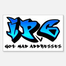 mad_addresses_blue Sticker (Rectangle)