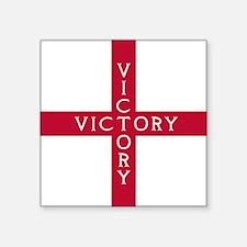 "KB English Flag - St. Georg Square Sticker 3"" x 3"""