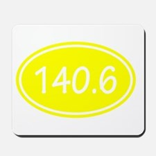Yellow 140.6 Oval Mousepad