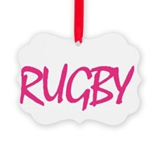 Pink Rugby Final T-Shirt Ornament