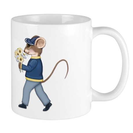 Daisy Bouquet Boy Mouse Mug