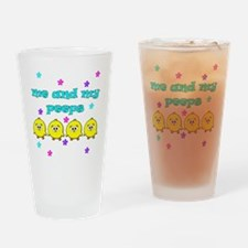 ME AND MY PEEPS - L TEAL Drinking Glass
