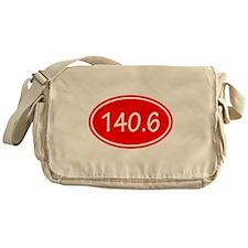 Red 140.6 Oval Messenger Bag
