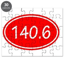 Red 140.6 Oval Puzzle