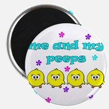ME AND MY PEEPS - L TEAL Magnet