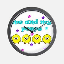ME AND MY PEEPS - L TEAL Wall Clock