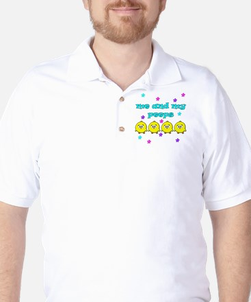 ME AND MY PEEPS - L TEAL Golf Shirt
