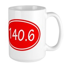Red 140.6 Oval Mugs