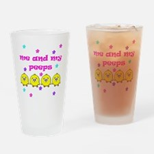 ME AND MY PEEPS - D PINK Drinking Glass