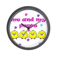 ME AND MY PEEPS - D PINK Wall Clock