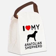 I love My Wire Fox Terrier Canvas Lunch Bag