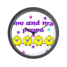 ME AND MY PEEPS - D PURPLE Wall Clock