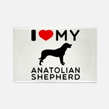 I love My Wire Fox Terrier Rectangle Magnet (10 pa