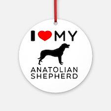 I love My Wire Fox Terrier Ornament (Round)