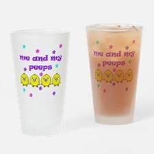 ME AND MY PEEPS - D PURPLE Drinking Glass