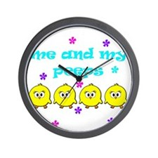 ME AND MY PEEPS - D TEAL Wall Clock