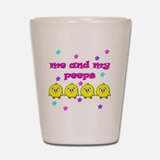 ME AND MY PEEPS - L PINK Shot Glass