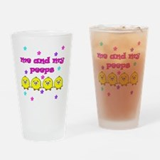 ME AND MY PEEPS - L PINK Drinking Glass