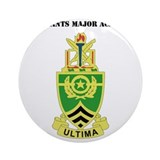 Sergeant major academy Round Ornaments