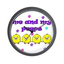 ME AND MY PEEPS - L PURPLE Wall Clock