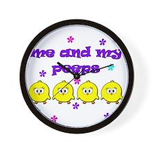 ME AND MY PEEPS - L PURPLE Wall Clock