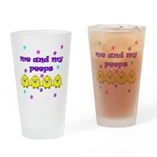 ME AND MY PEEPS - L PURPLE Drinking Glass
