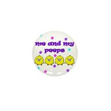 ME AND MY PEEPS - L PURPLE Mini Button