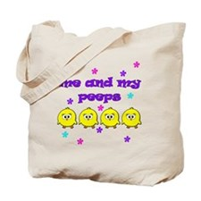 ME AND MY PEEPS - L PURPLE Tote Bag