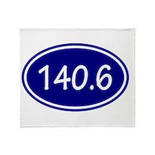 Blue 140.6 Oval Throw Blanket