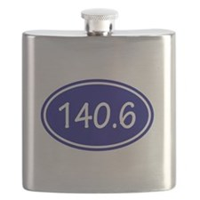 Blue 140.6 Oval Flask