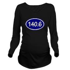 Blue 140.6 Oval Long Sleeve Maternity T-Shirt