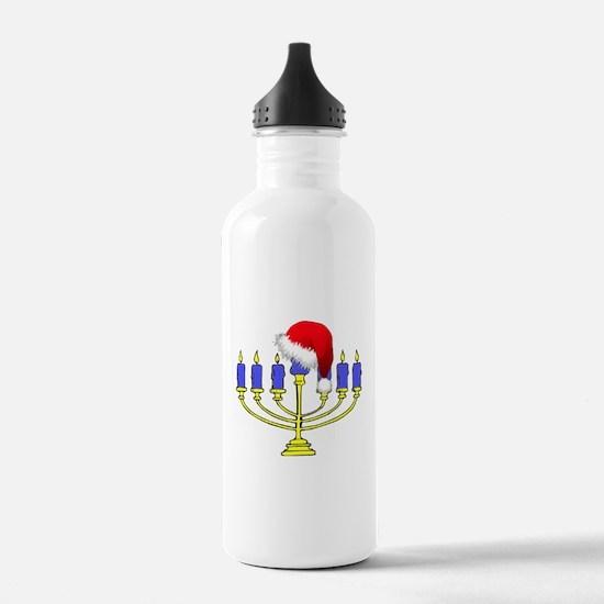 Christmas Menorah Water Bottle