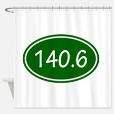 Green 140.6 Oval Shower Curtain