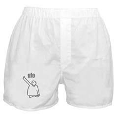 UFO Unidentified Flying Object Boxer Shorts