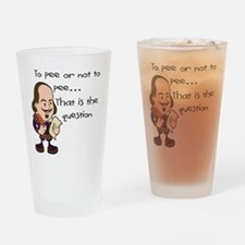 TO PEE OR NOT TO PEE - L Drinking Glass