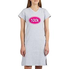 Pink 100k Oval Women's Nightshirt