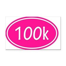Pink 100k Oval Rectangle Car Magnet