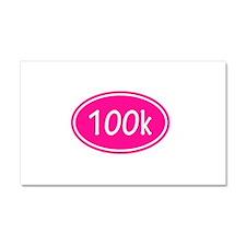 Pink 100k Oval Car Magnet 20 x 12