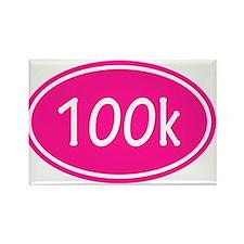 Pink 100k Oval Magnets