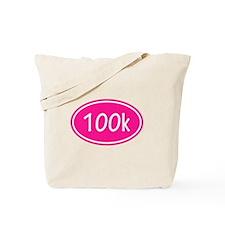 Pink 100k Oval Tote Bag