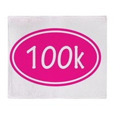 Pink 100k Oval Throw Blanket