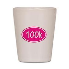 Pink 100k Oval Shot Glass